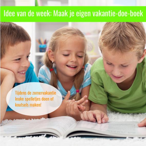 vakantieboek kinderen verkleind